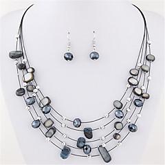 Mulheres Brincos Compridos Colar / Brincos colares em camadas Cristal Básico Estilo Boêmio Multi Camadas Bijuterias Destaque bijuterias