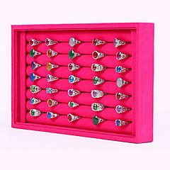 baratos Miçangas & Fabricação de Bijuterias-Quadrada Caixas de Jóias / Expositores de Jóias - Fashion Cor de Rosa, Preto e Branco 23 cm 14.5 cm / Mulheres