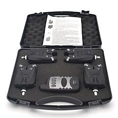 Europa 150m drahtlose Karpfenangeln Bissanzeiger Set 4 Bissanzeiger + 1 Empfänger für Karpfenangeln (Batterie nicht im Lieferumfang