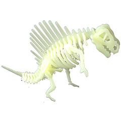 LED - Beleuchtung Sets zum Selbermachen Aufkleber Holzpuzzle Spielzeuge Dinosaurier Fluoreszierend Nachts leuchtend Heimwerken Stücke