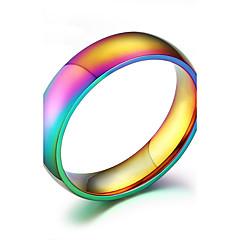 Anéis Fashion Diário / Casual Jóias Aço Inoxidável Anéis Grossos 1pç,6 / 7 / 8 / 9 / 10 Cores Sortidas
