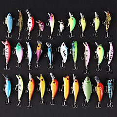 cheap Fishing Lures & Flies-30 pcs Hard Bait Swimbaits Minnow Crank Pencil Vibration/VIB Lure kits Fishing Lures Lure Packs Vibration/VIB Crank Minnow Jerkbaits Hard