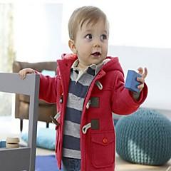 baratos Roupas de Meninos-Infantil Bébé Para Meninos Sólido Manga Longa Curto Jaqueta & Casaco
