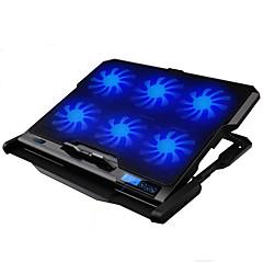 LED skjermen 6 viftes justerbar kjøligere kjøling pad med stativ