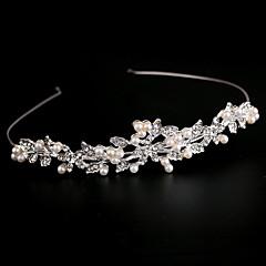 cheap Party Accessories-Imitation Pearl Rhinestone Alloy Headbands 1 Wedding Headpiece