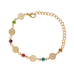 cheap Bracelets-Women's Chain Bracelet Fashion Alloy Round Jewelry Costume Jewelry Silver Golden