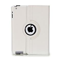 עמיד להעיף פתוח עור PU מקרה גוף מלא עם 360 סיבוב תואר לעמוד עבור iPad 2/3/4