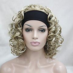 billiga Peruker och hårförlängning-Syntetiska peruker Lockigt Blond Syntetiskt hår Blond Peruk Dam Mellan Utan lock Blond