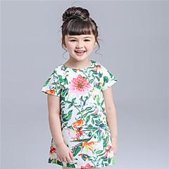 tanie Odzież dla dziewczynek-Brzdąc Dla dziewczynek Nadruk Krótki rękaw Sukienka / Bawełna