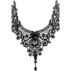 cheap Necklaces-Women's Crystal Beads Choker Necklace / Pendant Necklace - Crystal, Lace Personalized, Tassel, Vintage Black Necklace Jewelry For Wedding, Party, Halloween