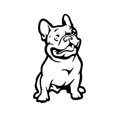 Franse bulldog dog autosticker huisdier auto ziqiao mode decal weerbestendig auto styling cartoon auto stickers