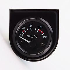 "2 ""52mm 12v universele auto-pointer olietemperatuur temp gauge 40-120 witte LED"