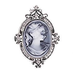 kvinders mode diamante krystal antik sølv vintage broche pins smykker dronning rhinestone part brocher