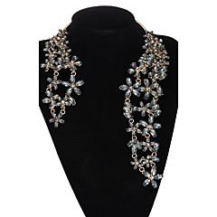 abordables -Femme Colliers Déclaration Résine Strass Alliage Mode Noir Argent Doré Bijoux Pour Mariage Soirée Quotidien Décontracté 1pc