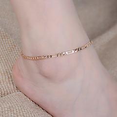 Women European Style Fashion Simple Wild Metal Chain Anklet