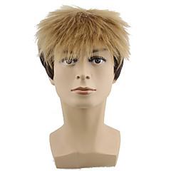 billiga Peruker och hårförlängning-Syntetiska peruker Herr / Dam Vågigt Syntetiskt hår Peruk Utan lock Blond