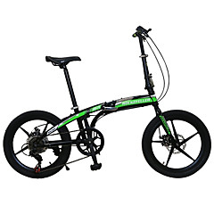 billige Sykler-Foldesykkel Sykling 7 Trinn 20 tommer (ca. 50cm) SHIMANO TX30 Dobbel skivebremse Fjærgaffel Helsveiset Anti-Skli Vanlig Stål