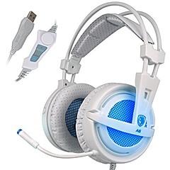 billiga Over-ear-hörlurar-SADES A6 Över örat / Headband Kabel Hörlurar Dynamisk Plast Spel Hörlur Med volymkontroll / mikrofon / Ljudisolerande headset