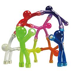 tanie Zabawki magnetyczne-Zabawki magnetyczne Magnes Mini Q-Man Magnes Człowiek guma 10pcs Silikonowy Magnetyczne Zabawki Dla dzieci Prezent