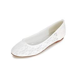 お買い得  ウェディングシューズ-女性用 靴 化繊 春 夏 フラット フラットヒール のために 結婚式 パーティー ブラック オレンジ ブルー ピンク クリスタル
