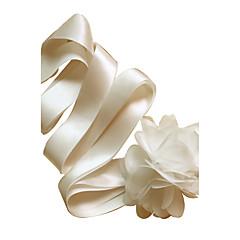 Cetim Casamento / Festa/Noite / Dia a Dia Faixa-Florais Feminino 98 ½polegadas(250cm) Florais