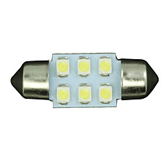 billige Interiørlamper til bil-SO.K 31mm Bil Elpærer W SMD 3528 30lm lm 6 interiør Lights