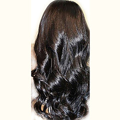 cheap Wigs & Hair Pieces-unprocessed 10 24 peruvian virgin hair natural black wavy 130 density full lace wig natural wave