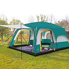 cheap Tents, Canopies & Shelters-Shamocamel® 8 person Tent Double Camping Tent Two Rooms Outdoor Family Camping Tents Well-ventilated Waterproof Ultraviolet Resistant