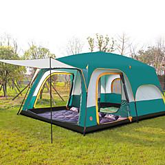 billige Telt og ly-CAMEL >8 personer Telt Tredobbelt camping Tent Tre Rom Familietelt Velventilert Vanntett Ultraviolet Motstandsdyktig Anti-Insekt