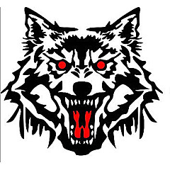 cheap Automotive Exterior Accessories-The Wolf's Head Car Stickers, Personality Car Stickers
