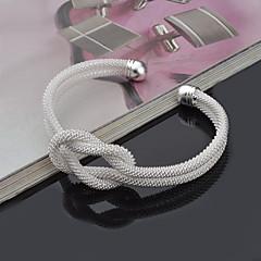 Feminino Bracelete Pulseiras Algema Estilo Punk Ajustável Adorável Inspirador bijuterias Prata de Lei Forma Redonda Jóias Para Casamento