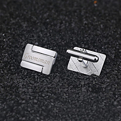 cheap Groomsmen Gifts-Groom Groomsman Zinc Alloy Cufflinks & Tie Clips Wedding Anniversary Birthday