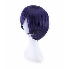 billiga Peruker och hårförlängning-Syntetiska peruker / Kostymperuker Rak Syntetiskt hår Lila Peruk Herr / Dam Män peruk Utan lock