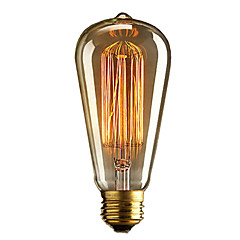 1pc 40W E27 E26 / E27 E26 ST64 Warm White 2300k Incandescent Vintage Edison Light Bulb 110-220V 220-240V