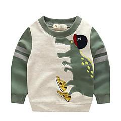 tanie Odzież dla chłopców-Brzdąc Dla chłopców Kreskówka Zwierzę Długi rękaw Krótki Bawełna Bluza z kapturem / bluza