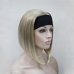 billiga Peruker och hårförlängning-Syntetiska peruker Rak / Kinky Rakt Blond Syntetiskt hår Blond Peruk Dam Utan lock Blond