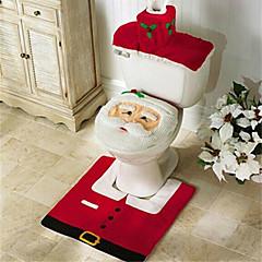 זול עיצוב הבית-סנטה שלג איילה רוח מושב האסלה לכסות שטיח אמבטיה להגדיר עם נייר מגבת לכסות לחג המולד מתנה השנה החדשה קישוטים