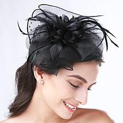 peří net headbands headpiece svatební party elegantní ženský styl