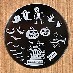 conception de halloween l'image des plaques à ongles clou art rond en acier inoxydable