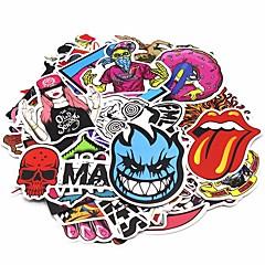 ziqiao 200 stuks / pak willekeurige muziekfilm vinyl skateboard gitaar travel case sticker autooverdrukplaatje leuke stickers