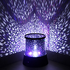 cheap Party Supplies-Wedding Décor Color-changing Star Beauty Starry Sky Projector Night Light (3xAA, Random Color)