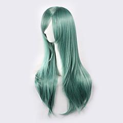 baratos Perucas Sintéticas-Perucas sintéticas / Perucas de Fantasia Liso Cabelo Sintético Verde Peruca Mulheres Sem Touca Verde
