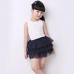 tanie Odzież dla dziewczynek-Dla dziewczynek Koronka Jendolity kolor Spódnica