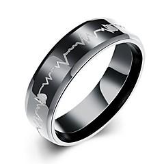 בגדי ריקוד גברים טבעת אהבה אופנתי ארופאי פלדת על חלד תכשיטים עבור Party יומי קזו'אל Christmas Gifts