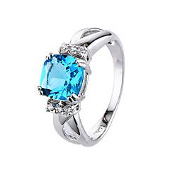 billige Motering-Dame Kubisk Zirkonium Ring - Zirkonium, Kubisk Zirkonium Enkel Stil, Mote 6 / 7 / 8 / 9 / 10 Blå / Lyseblå Til Bryllup Fest Engasjement