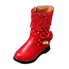 Girl's Shoes Libo New Style Hot Sale Casual / Outdoors Comfort Fashion Warm Snow Boots Red / Black / Pink