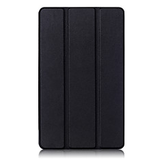 billige Nettbrettetuier-Etui Til Huawei Heldekkende etui Tablet Cases Helfarge Hard PU Leather til