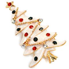 女性 ブローチ クリスマス イミテーションダイヤモンド ジュエリー 用途 日常 カジュアル