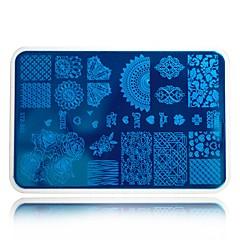 olcso -köröm bélyegzés sablonok fehér pad divat virág szépsége nyomtatás lengyel transzfer bélyegzés köröm bélyegzőlemezek stzb01-10