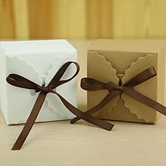12 Stuk/Set Gunst Holder-Rechthoekig Kaart Papier Bedank Doosjes Geschenkdoosjes Niet-gepersonaliseerde